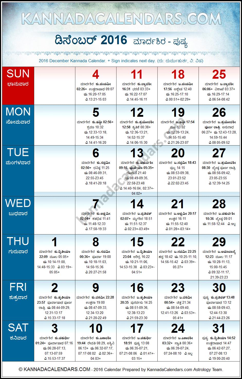 Calendar Kannada Pdf : December kannada calendar durmukhi nama samvatsaram