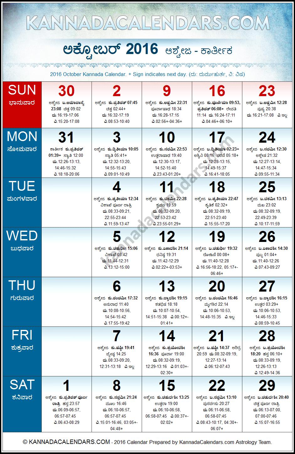Calendar Kannada Pdf : October kannada calendar durmukhi nama samvatsaram
