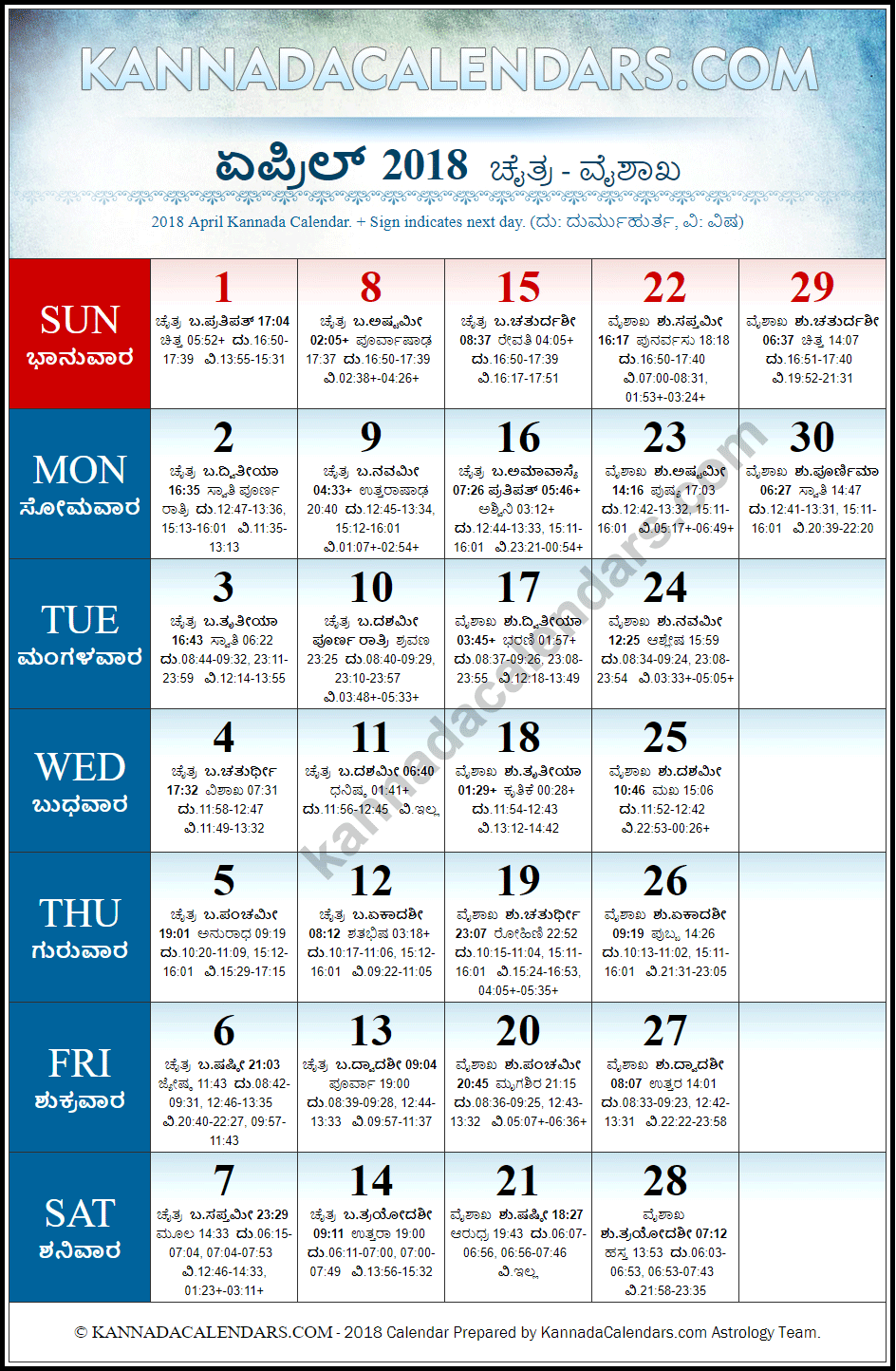 April 2018 Calendar April 2018 CalendarApril 2018 Calendar